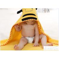 Cheap Customized Cartoon Style Baby Hooded Towels For Children Eco Friendly for sale