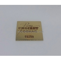 Cheap Square Metal Lables OEM Metal Label Metal Gifts and Crafts wholesale