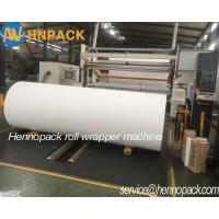 Cheap Hennopack Heavy Duty Paper Roll Wrapping Machine for Kraft Brown Paper,artboard paper, toilet paper ROLL WRAPPERS wholesale