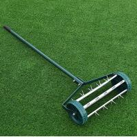 Cheap Outdoor Easy Rolling Garden Lawn Aerator Anti Rust Powder Coated Material wholesale