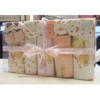 Cheap Custom Eco -Friendly Printing / Dyeing Organic Cotton New Born Baby Baptism Gift Sets wholesale