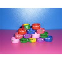 Cheap Promational Colorful Sports Silicone Ring With Debossed Logo For Boys / Girls wholesale