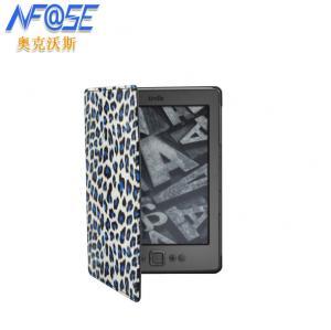 Cheap Leopard Printed Folio Amazon Kindle Protective Case For Kindle 5 / 4 Ereader wholesale