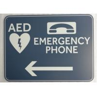 """Cheap 0.08"""" Safety Custom Printed Aluminum Signs Surface Mounted With Emergency Phone wholesale"""