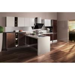Cheap Waterproof Wooden Veneer Kitchen Cabinets Flat Panel Acrylic Stone Countertop wholesale