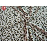 Cheap Customized Clothing Home Textile Plush Toy Fabric Knitted Printing Leopard Animal Polyester wholesale