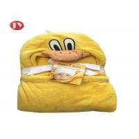 Cheap Soft Baby Hooded Blanket Microplush Swaddle Cute Animal Design For Kids wholesale