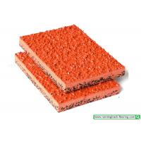 Buy cheap Red Elastic Anti - Slip Rubber Athletic Track / Rubber Running Track Material from wholesalers