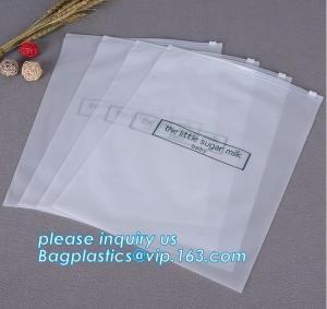 Cheap Bottom Gusset Slider Zipper Bags Garment Packaging Pouch Ziplock Swimwear Clothing wholesale