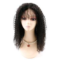 Cheap Kinky Curly Front Lace Wigs , Lace Front Full Wigs Human Hair 8A Grade wholesale