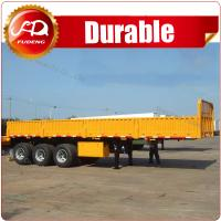 Cheap 2016 CIMC Side Wall Cargo Semi Trailers Factory Price China Heavy Duty Flatbed Truck Trailer With Sidewall wholesale