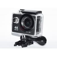 Black Remote Control Action Camera FHD 1080p High Resolution For Home Security