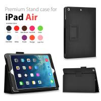 Cheap Durable PU / Microfiber Leather iPad Case Stand for Apple Air 5 Fashionable wholesale