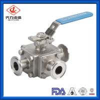 Cheap Stainless Steel Sanitary Ball Valve 1 - 4 Inches 3 Way Medium Pressure wholesale