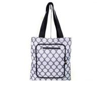 Cheap Personalized Custom Grocery Tote Bags with Zipper Closure Outside Pocket wholesale