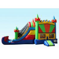 Cheap 27Ft Colorful Inflatable Bouncer Combo Cold-resistant & Fire-retardant wholesale