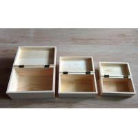 China Wooden Wine Gift Boxes with Hinge& Clasp, 3 sizes of Small, Medium and Large on sale