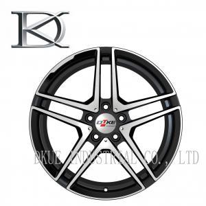 Cheap 15 Inch Alloy Wheels For Car , Black Alloy Rims Reduce Fuel Consumption wholesale
