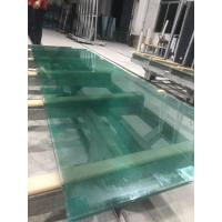 Cheap SGP laminated glass with green water ghost metal-coated polyester mesh fabric wholesale