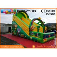 Cheap Printed Inflatable Jungle Slide / Commercial Inflatable Bounce House wholesale