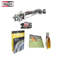 Fully Auto Plastic Bag Making Machine , Four Sides Seal Box Pouch Making Machine