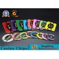 Cheap Square Crystal Acrylic Poker Chips With Custom Logo / Super Touch Texture Poker Plaque wholesale
