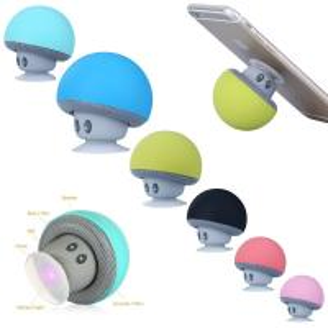 Cheap Cartoon Mushroom Wireless Bluetooth Speaker Waterproof Sucker Mini Portable wholesale