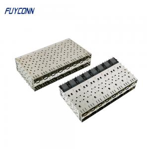 Cheap 2*8 16 Port 320 Pin Press Fit SFP Modular SFP Cage Connector wholesale