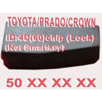 Buy cheap Toyota / Prado / Crown 4D60 Duplicable Chip 50xxx Car Key Transponder Chip from wholesalers