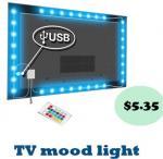 Cheap 5050 SMD Flexible LED Strip Lights , 120° Beam Angle 5V TV Backlight Kit wholesale