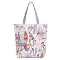 Cheap Floral Printed Womens Cartoon Canvas Bags Shopper Tote With Cotton Handle wholesale