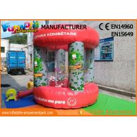 Buy cheap Red PVC Tarpaulin Advertising Inflatables / Cash Machine Inflatable Money Booth from wholesalers