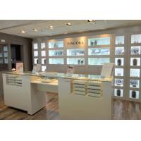 Cheap Customized Logo High Wall Display Cabinets / Jewelry Display Cases Beige Color wholesale