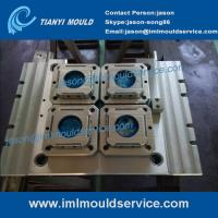 Cheap plastic thin wall moulding with iml labels, thin Wall Plastic Mold with in mold labeling wholesale