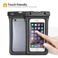 Cheap Fully Submersible Waterproof Smartphone Case , Small Waterproof Bag With Air - Filled Frame wholesale