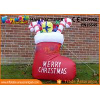 Cheap Boot or Snowman Inflatable Christmas Decorations with 1 Year Warranty wholesale