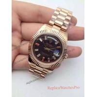China High Quality Rolex Rose Gold President Diamond Dial Replica Watch on sale