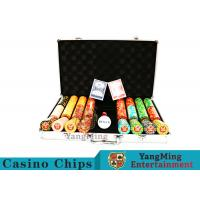 Quality Texas Poker Chip Set / 11.5g Clay Casino Chip With Aluminum Case for sale