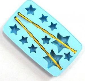 Cheap FDA LFGB Approved Eco-friendly Star Shape Silicone Cake Mold, Baking Trays wholesale