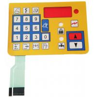 Cheap Colorful Waterproof Flat Membrane Switch Keypad 0.05mm - 1.0mm Thickness wholesale