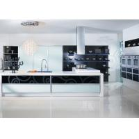 L Shaped Plywood Carcase Lacquer Kitchen Cabinets With Quartz Stone Countertop