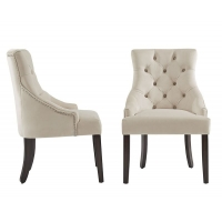 Cheap Modern Leather Tufted H89cm White High Back Dining Chairs wholesale