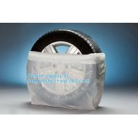 Cheap Heavy Duty Wheel Masker Tire Storage Bag , Disposable Tyre Bag On Roll Tire Storage wholesale