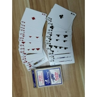 Buy cheap 57*87mm 62*87mm 310g Black Core Casino Poker Cards from wholesalers