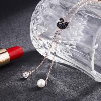 Buy cheap Pendant Sweater Chain Swarovski Black Swan Necklace 925 Silver Freshwater Pearl from wholesalers