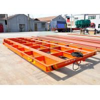 Cheap 5t automobile flat bed rail transfer bogie running on steel rail in painting blasting room wholesale
