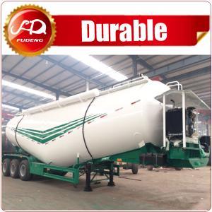 Cheap Low density bulk powder tank semi trailer (compartment optional) diesel engine,pump, air compressor installed wholesale