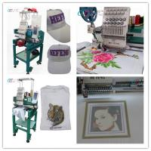 Cheap Multi-purpose single head cap / ready made garment embroidery machine wholesale