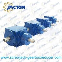 Cheap JTV120 Spiral Bevel Gears Right Angle Gearbox 25MM Drive Shaft Transmission Ratio 1:1, 2:1 wholesale
