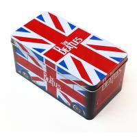 Cheap Beatles style gift Rectangular Tin Box / tin cantainers 4c offset printing wholesale